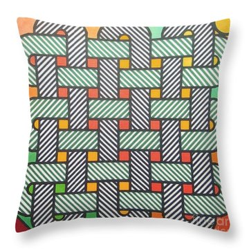 Throw Pillow featuring the drawing Rfb1002 Variation I Diagonal by Robert F Battles