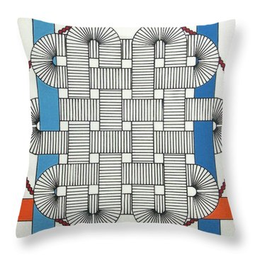 Throw Pillow featuring the drawing Rfb1004 by Robert F Battles