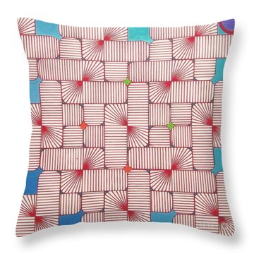 Throw Pillow featuring the drawing Rfb1006 Variation IIi Diagonal by Robert F Battles
