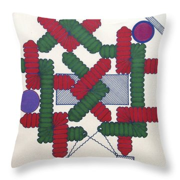 Throw Pillow featuring the drawing Rfb1007 Diagonal by Robert F Battles