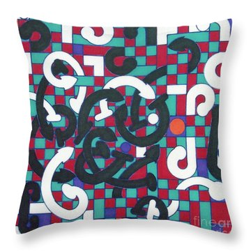 Throw Pillow featuring the drawing Rfb1008 by Robert F Battles