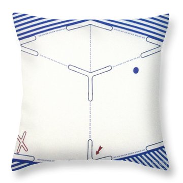 Throw Pillow featuring the drawing Rfb1011 by Robert F Battles