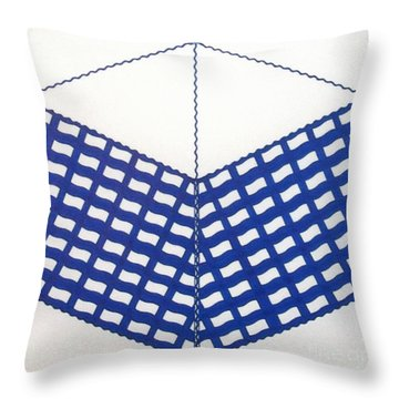 Throw Pillow featuring the drawing Rfb1013 by Robert F Battles