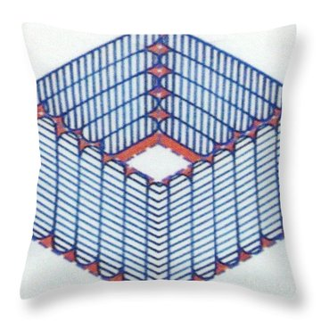 Throw Pillow featuring the drawing Rfb1014 by Robert F Battles