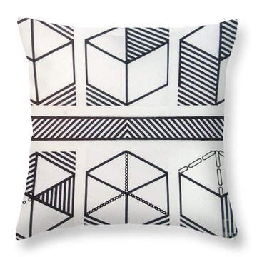 Throw Pillow featuring the drawing Rfb1018 by Robert F Battles