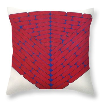 Throw Pillow featuring the drawing Rfb1019 by Robert F Battles