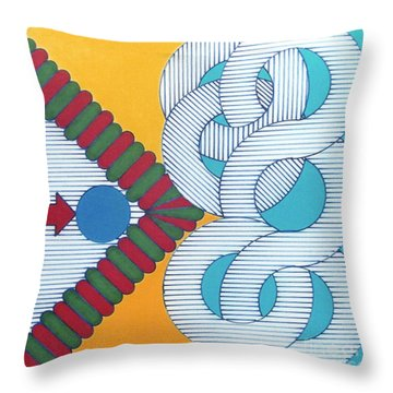 Throw Pillow featuring the drawing Rfb1024 by Robert F Battles