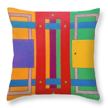 Throw Pillow featuring the drawing Rfb1025 by Robert F Battles