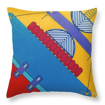 Throw Pillow featuring the drawing Rfb1026 Diagonal by Robert F Battles