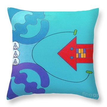 Throw Pillow featuring the drawing Rfb1027 by Robert F Battles