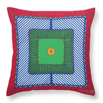 Throw Pillow featuring the drawing Rfb1029 by Robert F Battles
