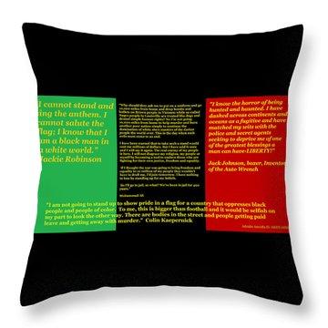Colin Kaepernick Rbg Throw Pillow