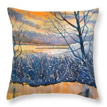 Rhapsody In Gold Throw Pillow