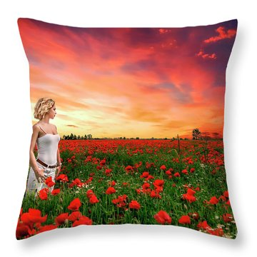 Rhapsody In Red Throw Pillow