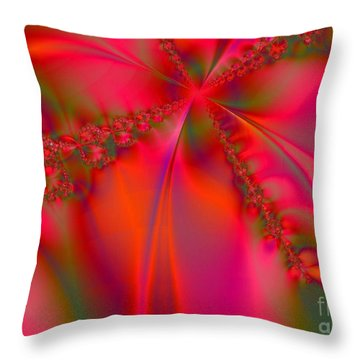 Rhapsody In Red Throw Pillow by Robert ONeil