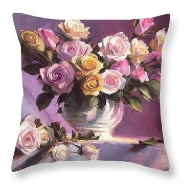Rhapsody Of Roses Throw Pillow