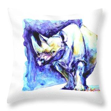 Rhi-no You D'n't Throw Pillow