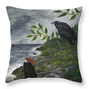 Rhinne And Nightshade Throw Pillow