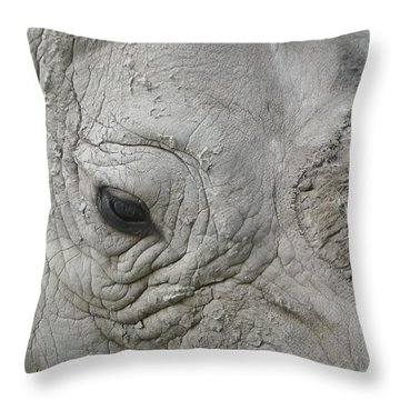 Rhino Eye Throw Pillow