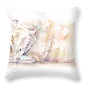 Rhino One Throw Pillow