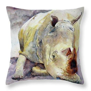 Rhino Reclining Throw Pillow