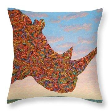 Rhino Throw Pillows