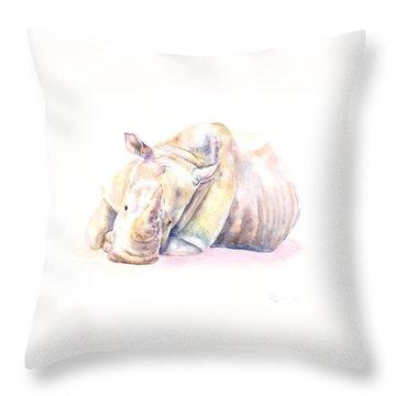 Rhino Two Throw Pillow