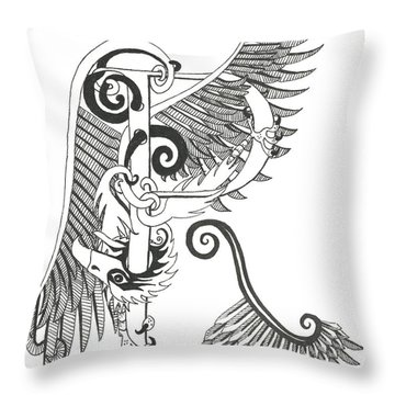 Rho Eagle Throw Pillow by Melinda Dare Benfield