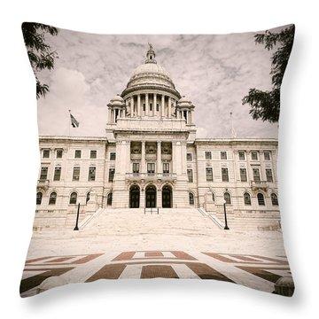 Rhode Island State House Throw Pillow by Lourry Legarde