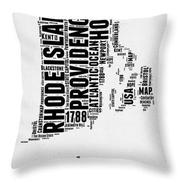 Rhode Island Word Cloud 1 Throw Pillow