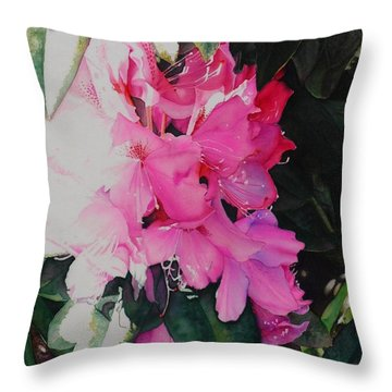 Rhodies Throw Pillow