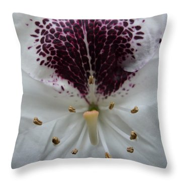 Rhododendron 2 Throw Pillow by Jean Bernard Roussilhe