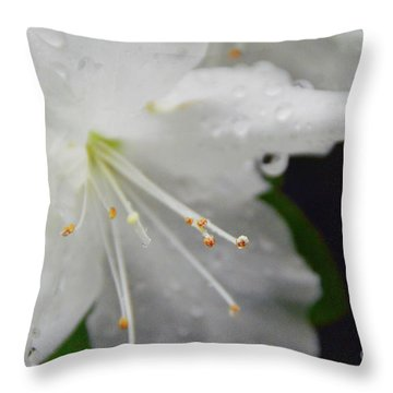 Rhododendron Blossom Throw Pillow