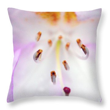 Rhododendron Blossom Too Throw Pillow