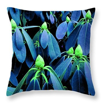 Rhododendron Buds In Spring Throw Pillow