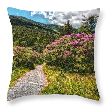 Rhododendrons On The At Throw Pillow