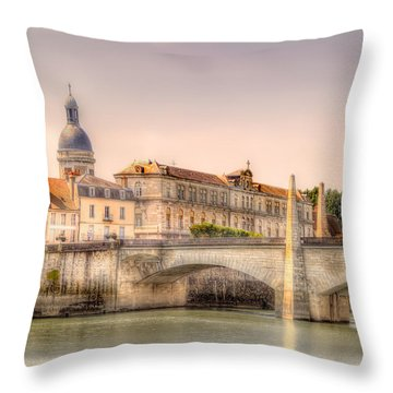 Bridge Over The Rhone River, France Throw Pillow