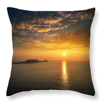 Rhosili 1 Throw Pillow