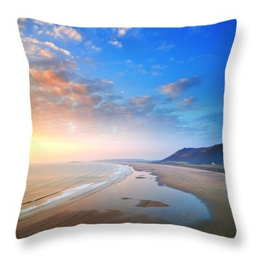 Rhosili 2 Throw Pillow