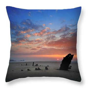 Rhosili 3 Throw Pillow