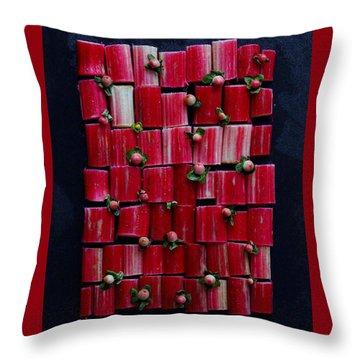 Rhubarb Wall Throw Pillow
