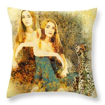 Rhyme Throw Pillow by Van Renselar
