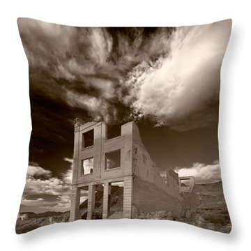 Rhyolite Nevada Ghost Town Throw Pillow