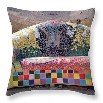 Rhyolite Sofa Throw Pillow by Walter Chamberlain