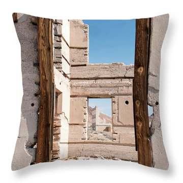 Rhyolite Through Windows Throw Pillow