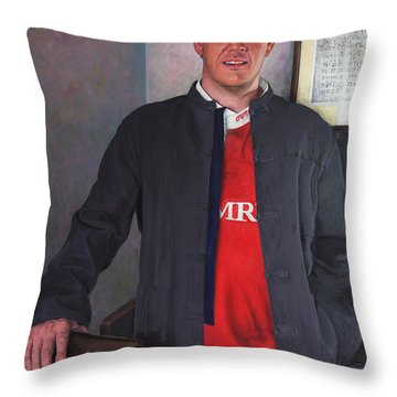 Rhys Meirion Throw Pillow by Harry Robertson