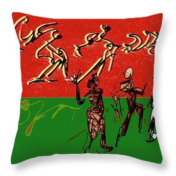 Rhythm And Soul Throw Pillow