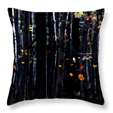 Rhythm Of Leaves Falling Throw Pillow
