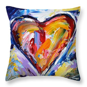 Rhythm Of Love  Throw Pillow