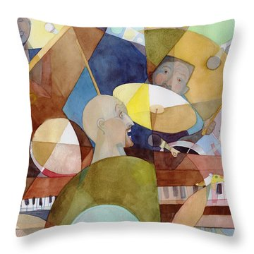 Rhythm Section Throw Pillow